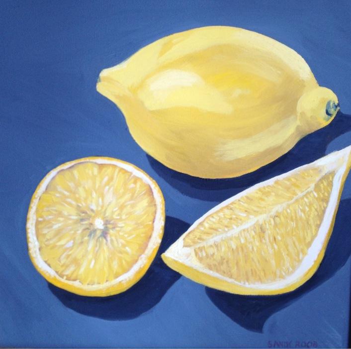 Lemons on Gray